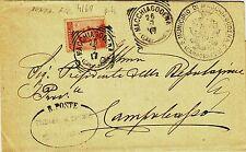 Z6992-MOLISE, MACCHIAGODENA, TONDO RIQUADRATO PER CAMPOBASSO, 1917
