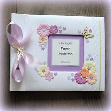 Luxury Personalised BABY GIRL Birthday Photo Album/ Hand Made Boxed/ great gift!