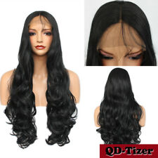 Long Body Wavy High Temperature Fiber Synthetic Lace Front Wigs Black Women Hot