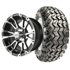 """Yamaha Golf Cart Part 12"""" Wheel/Tire Assembly For Lifted Carts"""