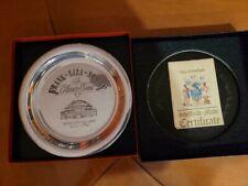 FRANK SINATRA , LIZA MINELLI, SAMMY DAVIS JR. THE ULITMATE EVENT -  PEWTER PLATE