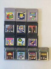 Lot of 13 Game Boy & Game Boy Color Games - Pokémon Kirby Game & Watch Turok 2