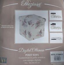Pouf Sofa Preziosa contenitore di pelle sintetica misura 38 38 38 cm