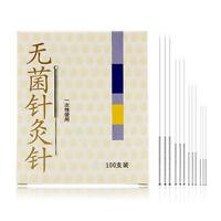 100 pcs agujas de desintoxicación de acupuntura con bordes con tubo guía