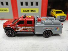 MATCHBOX FIRE DISTRICT KME RED FORD F-550 FIRE RESCUE CUSTOM KITBASH UNIT
