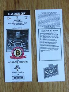 Game 27 ART ROSS Last Season BOSTON BRUINS 1/30/95 TICKET STUB Boston Garden
