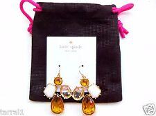 Earrings 14K Gold Fill Gold White Nwt $78 Kate Spade Chandelier Drop Pierced