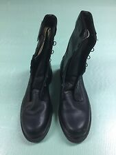 USAF Leather Pilot Flight Boots, Fighter Pilot, Black Size 8 1/2, Military
