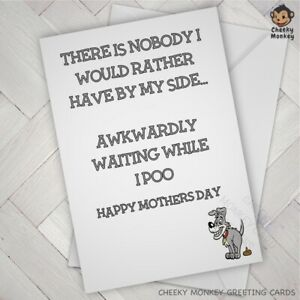 Funny CARD from the dog DOGGIE LOVER MOTHERS DAY for dog parent fur baby furbaby