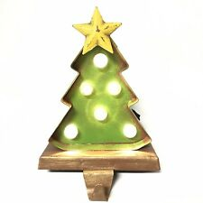Glitzhome Marquee Christmas Tree Stocking Holder  LED Lighted Up