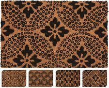 Coconut Fibre Coir Front Door Welcome  Doormat 40x60cm ~ Design Varies