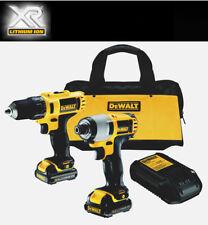 Dewalt 10.8V Li-ion Combi Drill & Impact Driver Twin Pk inc 2 XR Batteries *NEW*