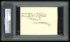 James Whitcomb Riley PSA/DNA Autographed Quotation Signed Hoosier Indiana Poet