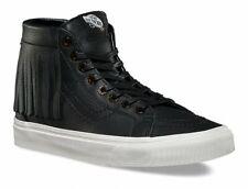 Vans Sk8 Hi Moc (Tortoise) Black/Blanc Leather- Women's 6