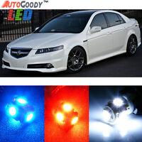 11 x Premium Xenon White LED Lights Interior Package Kit for Acura TL 2004-2008