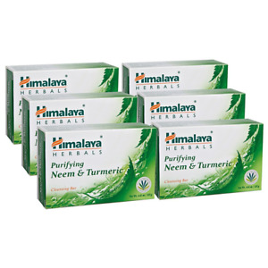 Himalaya Purifying Neem & Turmeric Cleansing Bar 6 PACK for Clean and Healthy gm
