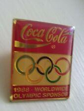 Coca Cola 1988 World Olympics Sponsor pin badge