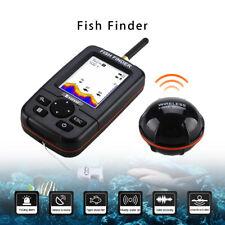 "2.8""LCD Display 45m Fish Finder+Wireless Sonar Sensor For River Sea Boat Fishing"