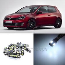 Error Free White 14pcs Interior LED Ligth Kit for 06-09 VW MK5 GTI Golf Rabbit