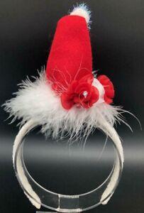 Holiday Mrs.Santa Hat White Headband Custom Made New