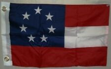"""1st National 7 Stars 12""""x18"""" Grommets Flag ( boat/motorcycle )"""
