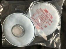 5 Pairs GENUINE 3M 2138 P3 R Particulate Filters SEALED PACKS BRAND NEW EXP 2022