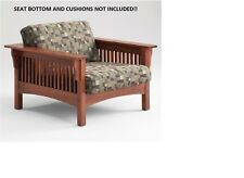 SOLID HONEY OAK MISSION CHAIR BY ADDEN FURNITURE***NO BOTTOM OR CUSHIONS**NEW**