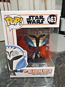 Funko Pop Star Wars The Mandalorian Bo-Katan Kryze No 463 + Free Pop Protector