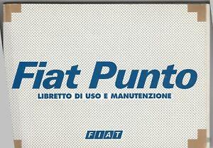 FIAT PUNTO - LIBRETTO MANUTENZIONE EDIZ. IV/2002 OTTIMO STATO CON CUSTODIA PLAST