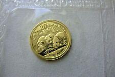 CHINA  - 2013 - 1/20  oz. PANDA .999   GOLD - SEALED IN ORIGINAL MINT PACKAGING