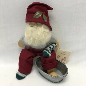 "Lizzie High 9.5"" Tall Santa Ladie & Friends 1989 Wood Figure VTG"