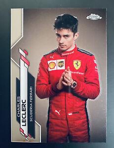 Charles Leclerc 2020 Topps Chrome Formula 1 F1 Racer #4 Ferrari *