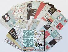 SIMPLE STORIES [WINTER WONDERLAND]  12 x 12 Paper and Stickers  (Set e) Save 60%