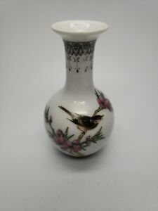 """Old Chinese Hand Painted Porcelain Miniature Vase 3.5"""" tall"""