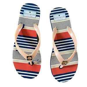 Kate Spade multicolor flip flops sandals size 7 Women