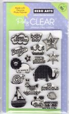 PRECIOUS BABY BOY - Hero Arts Poly Clear Stamp Set