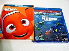 Finding Nemo 3D + 2D New Blu-Ray w/ Slipcover Region-Free Uk Import Disney Pixar
