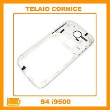 CORNICE CENTRALE per Samsung i9505 Galaxy S4 BIANCO middle plate FRAME TASTI