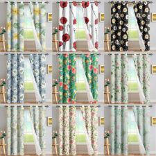 Floral Design Blackout Curtains Living Room Decor Window Drapes Shower Curtains