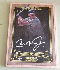 2015 TOPPS MUSEUM COLLECTION BASEBALL CAL RIPKEN JR WOOD FRAME AUTOGRAPH 1/1 SSP