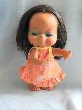 BEAUTIFUL Vintage Hawaiian Vinyl Hula Closed Eyes Girl Doll Figure