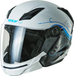 Fly Racing Tourist Open Face Street Motorycle Helmet DOT Approved