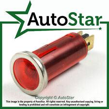 Lumière rouge d'avertissement chrome lunette 12V 12 VOLTS Dash Indicateur classic kit voiture Trike