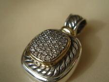 $2100 DAVID YURMAN 18K GOLD ,SS ALBION DIAMOND ENHANCER