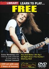 LEARN TO PLAY FREE CLASSIC ROCK DVD LICK LIBRARY NEW!