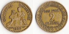 TRES RARE MONNAIE 2 FRANCS CHAMBRE DE COMMERCE DE 1927 @ LA PLUS RARE @ QUALITE