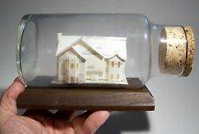 HOUSE OF CARDS SOUVENIR BUILDING IN BOTTLE REAL ESTATE ADVERTISING ODDITY RARE