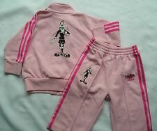 RARE~Adidas S-GOOFY DISNEY firebird Track Suit Jacket Top-Pant superstar~KID 12M