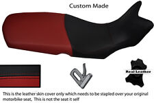 BURGUNDY AND BLACK CUSTOM FITS BMW F 650 GS 08-12 REAL LEATHER SEAT COVER