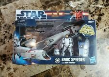BARC Speeder with Clone Trooper 2010 STAR WARS The Clone Wars TCW MIB